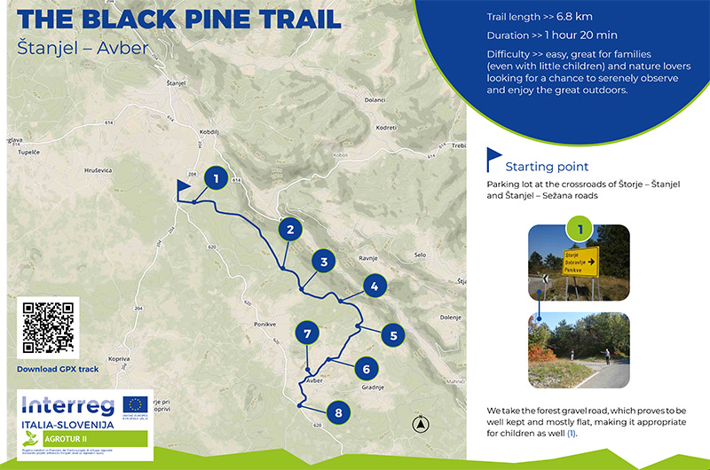 Hike along the Black Pine Trail (GPX track)